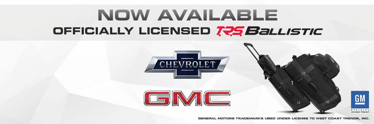 Now Available Chevorlet Officially Licensed TRS Ballistic Luggage