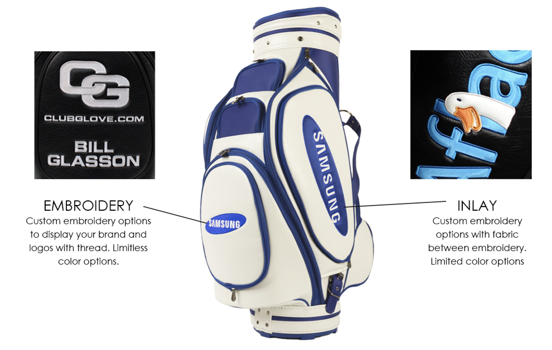 options for corporated branded golf bags