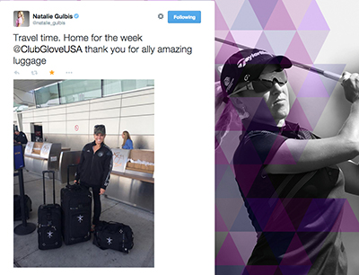 Natalie Gulbis with her TRS Ballistic 3 Piece Ensemble
