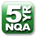 5 year NQA Warranty Button